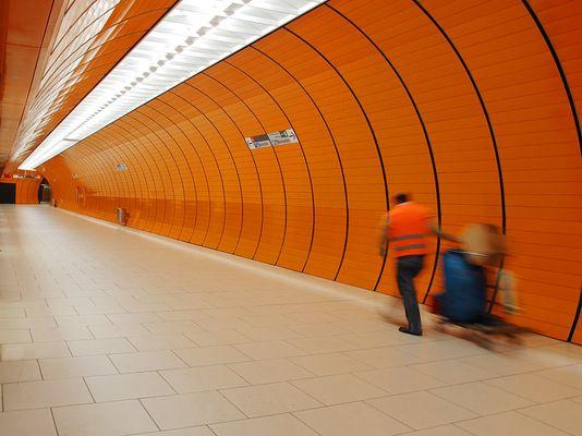 Alles sauber in der U-Bahn