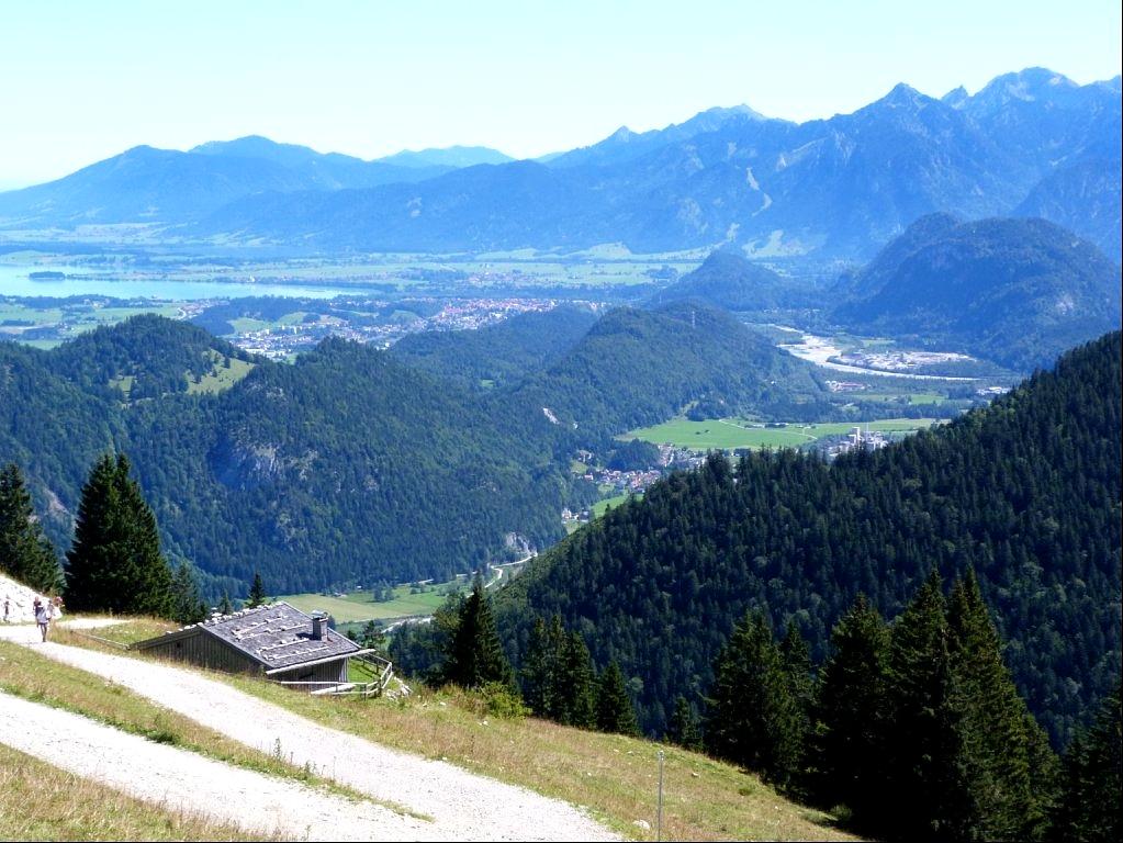 Allgäu, Blick vom Breitenberg nach Füssen