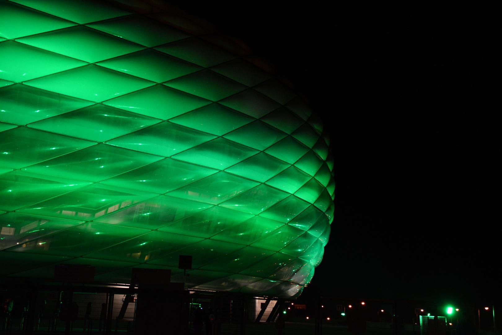 Allianz Arena - heute in Grün