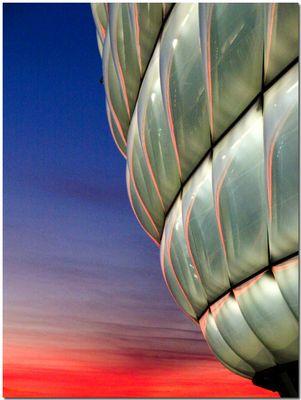 Allianz Arena im Abendrot
