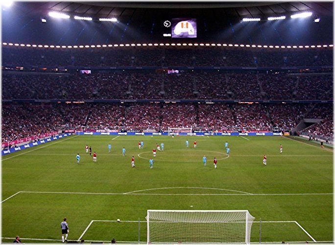 Allianz-Arena in der Nacht
