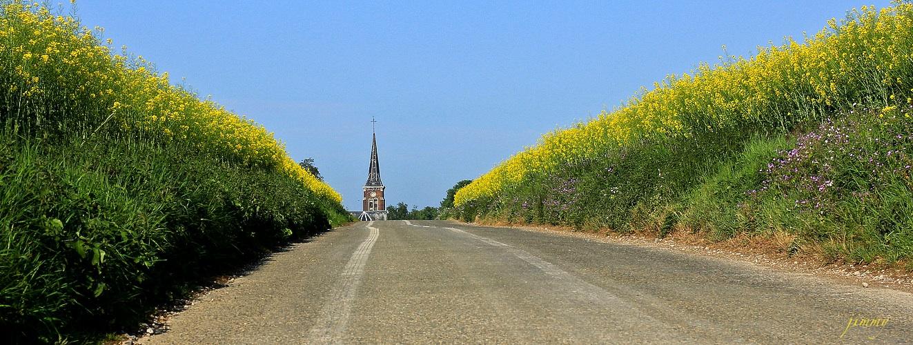 Allonville City , village de campagne en Pays de Somme