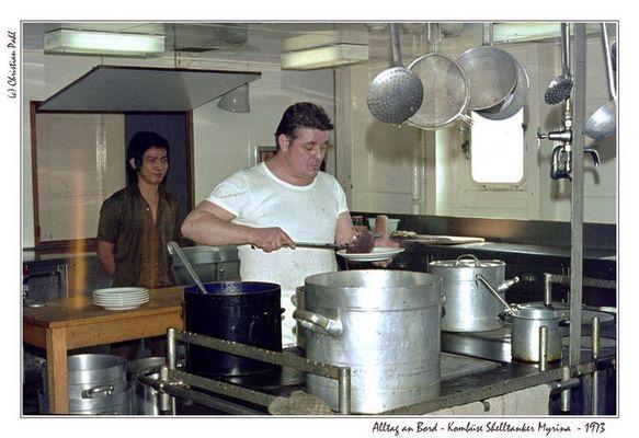 Alltag an Bord - Kombüse Shelltanker Myrina - 1973