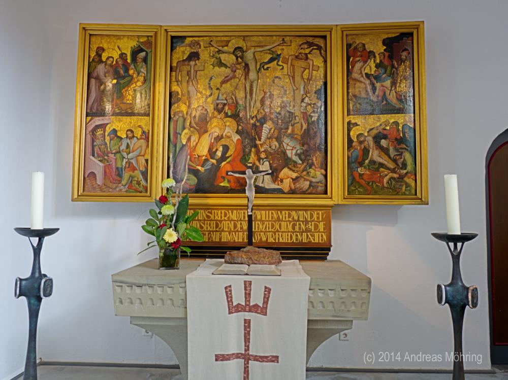 Alltar Felsenkirche in Idar Oberstein