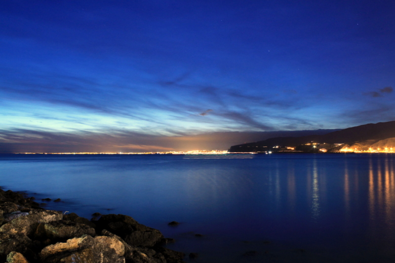 almeria,,,y su mar al anochecer