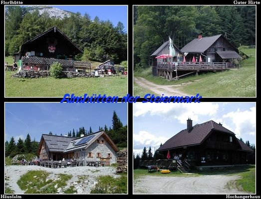 Almhütten der Steiermark