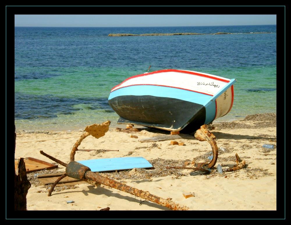 alone along seaside