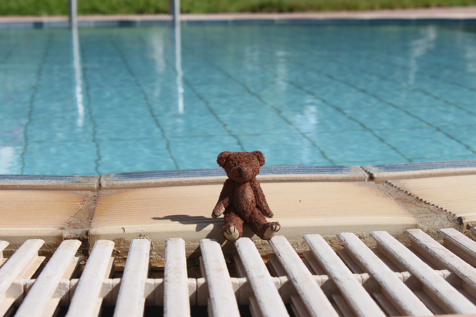 Alone at the Pool