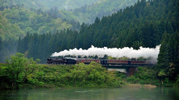 Along the Aganogawa-river