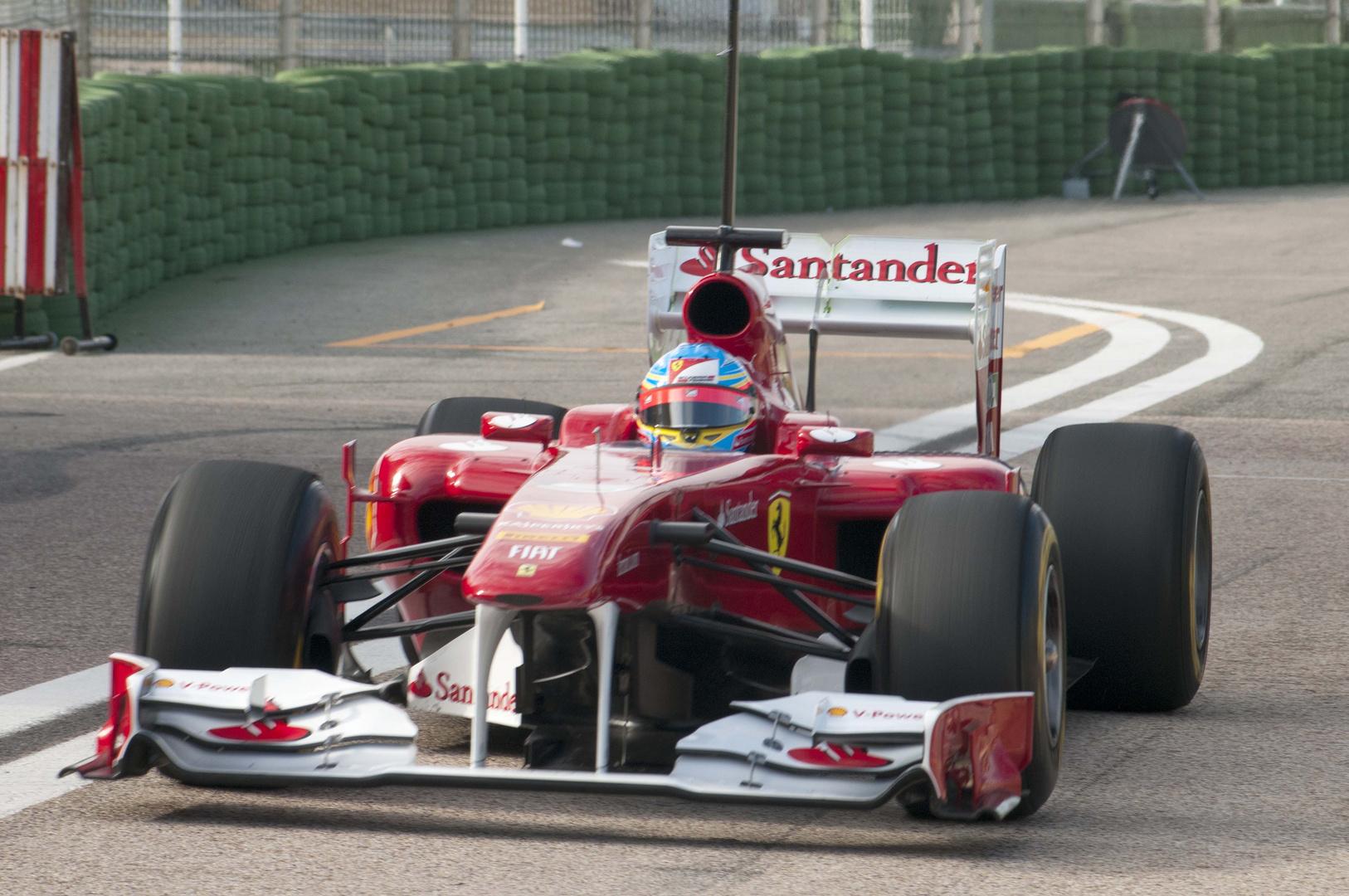 Alonso bei F1 Testfahrten