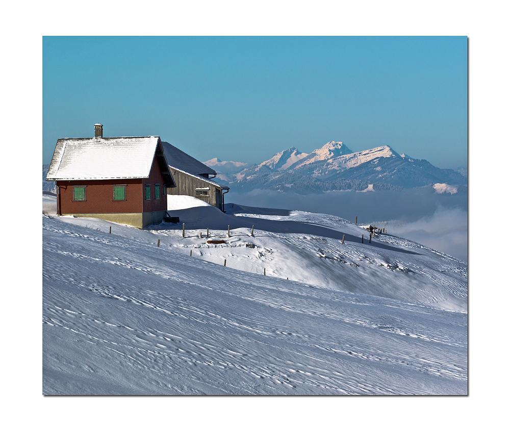 Alp im Winterschlaf