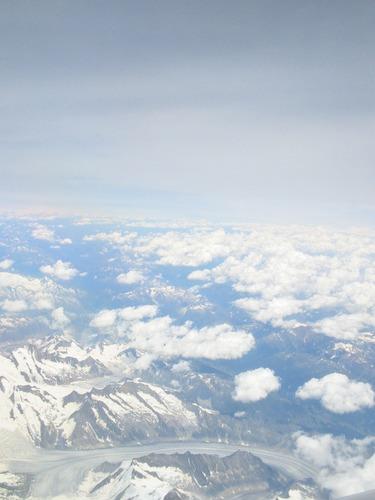 Alpen aus 10.000m Höhe