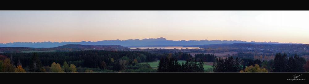 Alpen bei Sonnenuntergang