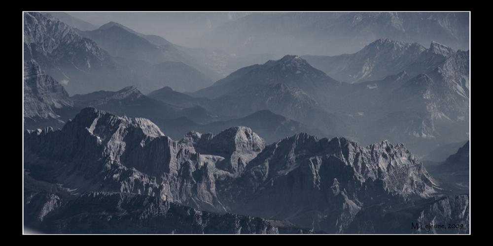 Alpen in 11 Km Höhe