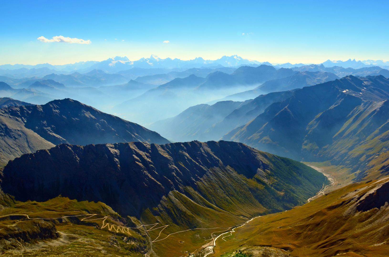 Alpen-Region an der Grenze zu Italien