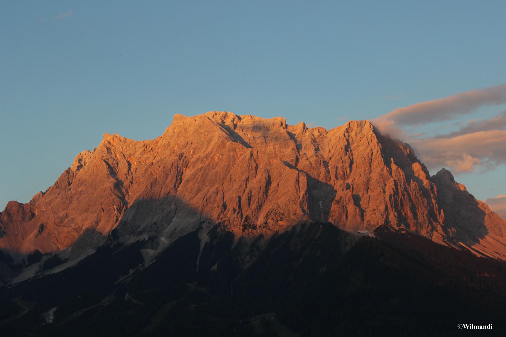 Alpenglühen an der Zugspitze