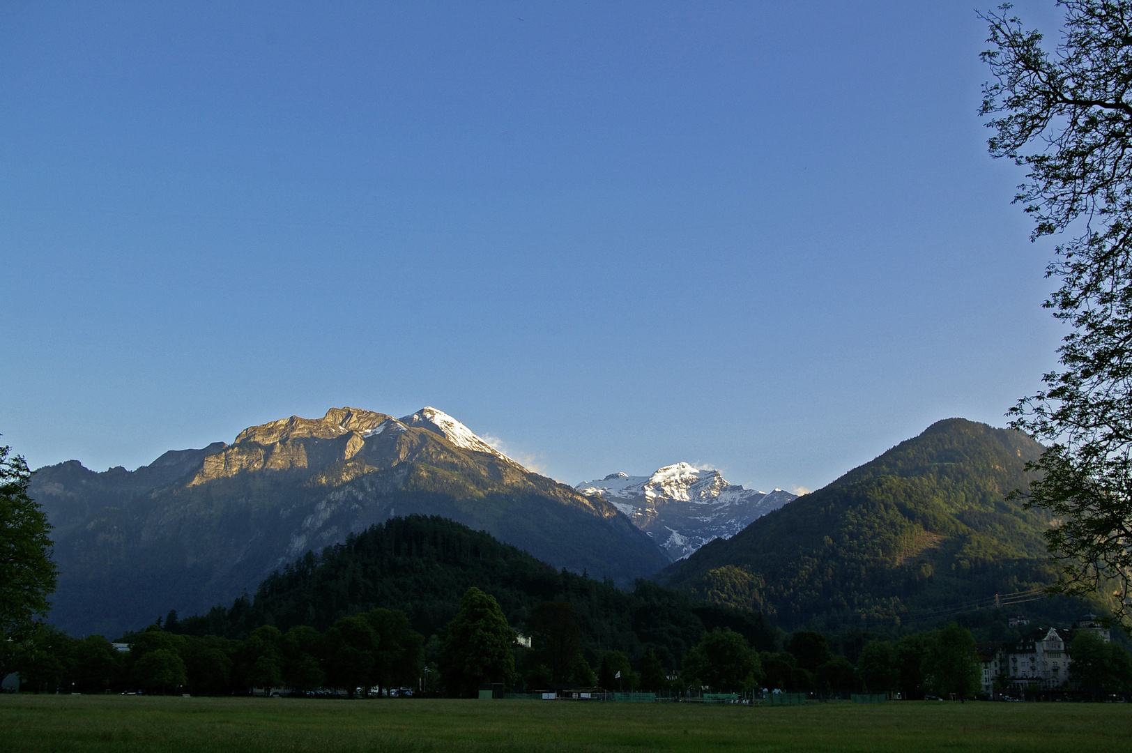 Alpenglühen, Junfraujoch in der Abendsonne