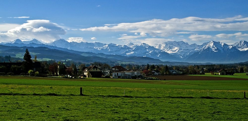 Alpenpanorama über Rubigen