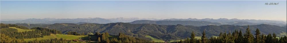 Alpenpanorama vom Schwarzen Grat aus