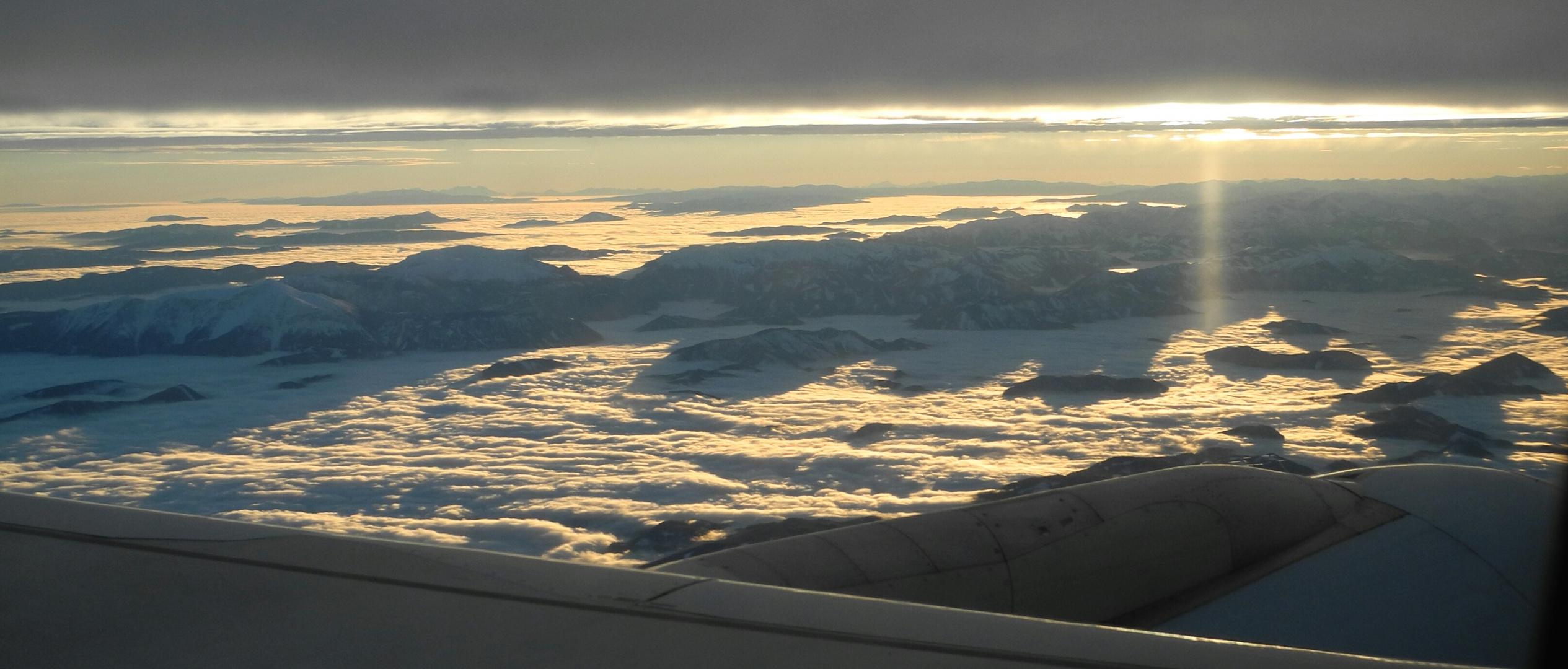 Alpenpanorama zwischen Wolken
