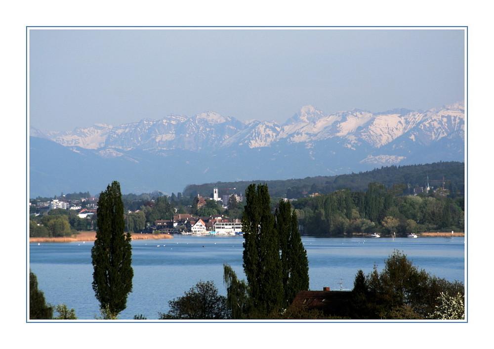 Alpensicht am Bodensee