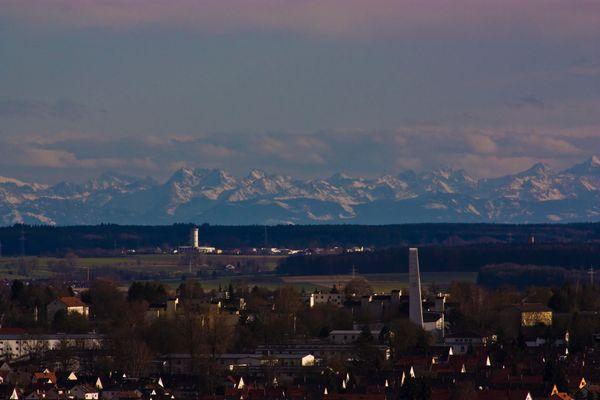 Alpensicht aus Ulm