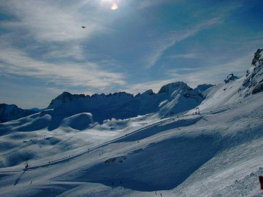 Alpen/Zugspitze :: Licht-Schattenspiel