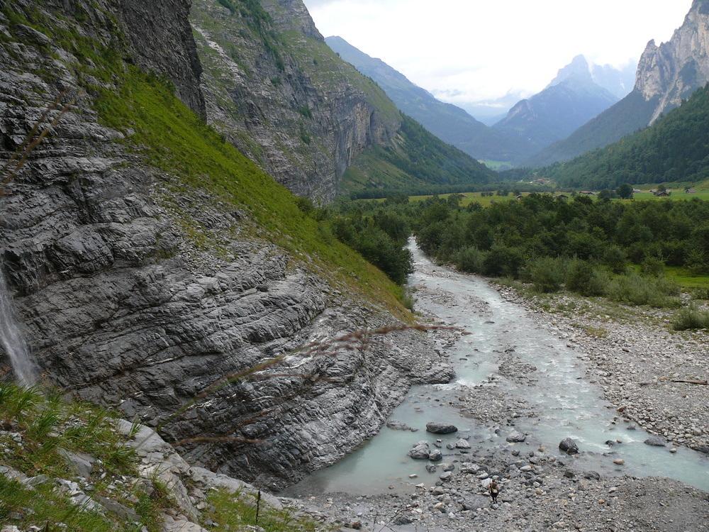 Alpine glacier stream