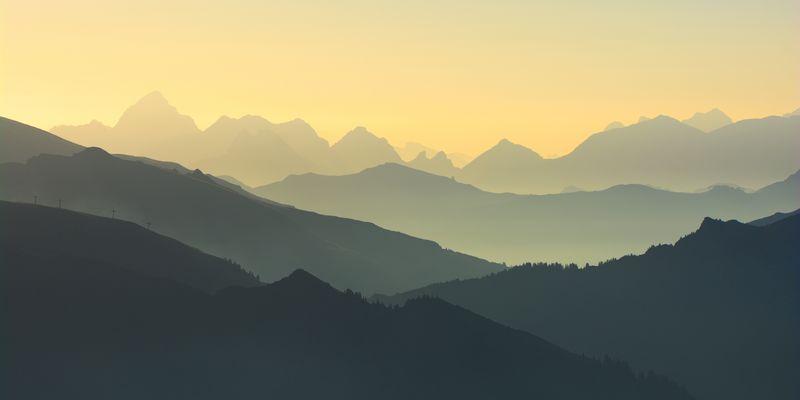 Alpine Morgenstimmung