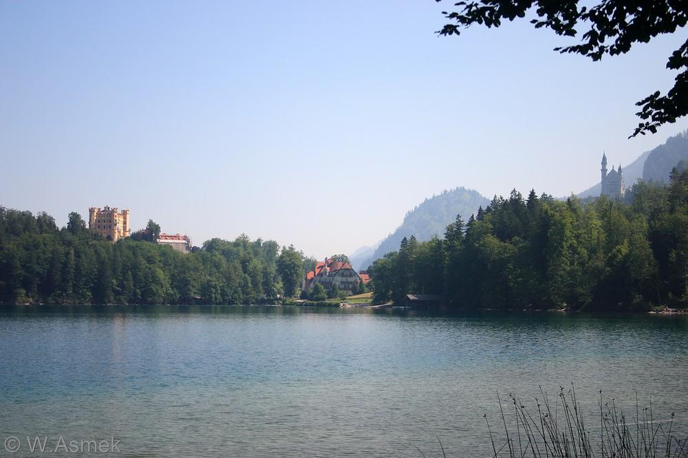 Alpsee mit Hohenschwangau und Neuschwanstein