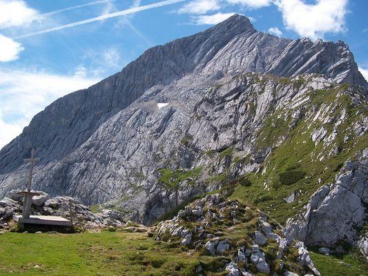Alpspitze vom Osterfelderkopf aus gesehen