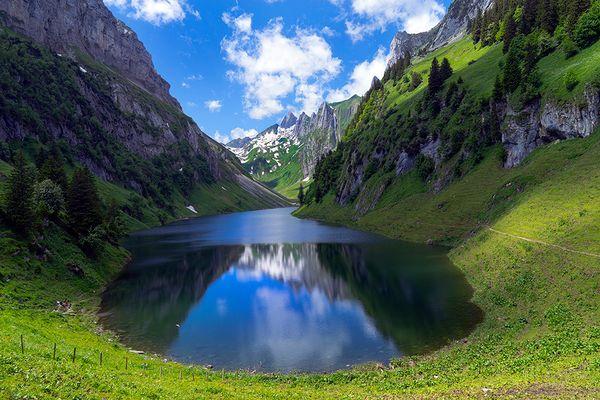 Alpstein: Am Fälensee - der blaue Saphir