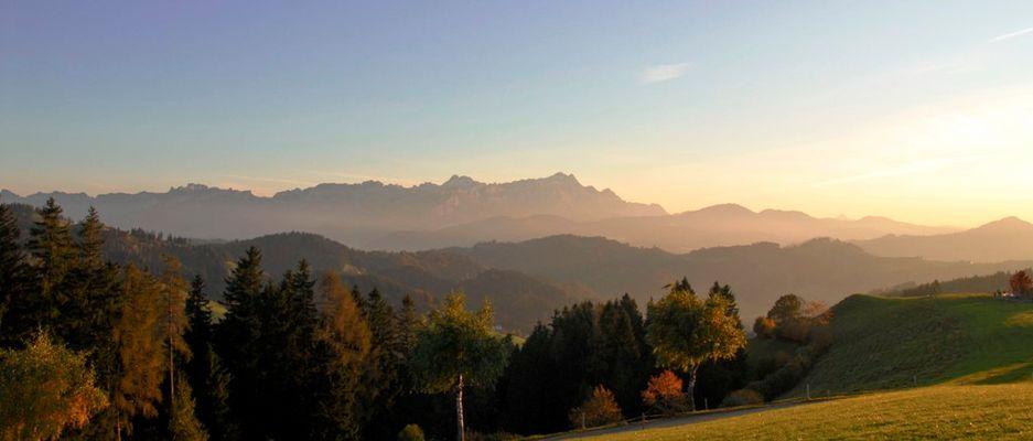 Alpstein im letzten Tageslicht