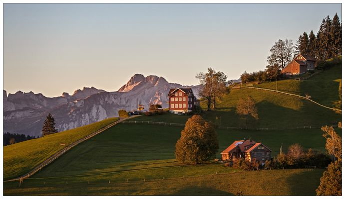 Alpstein im Sonnenaufgang