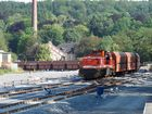 Als 2. Zug des Tages erreicht der Brühne-Leerzug den neuen Teil...