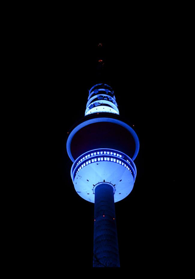 Als der Fernsehturm blau war.