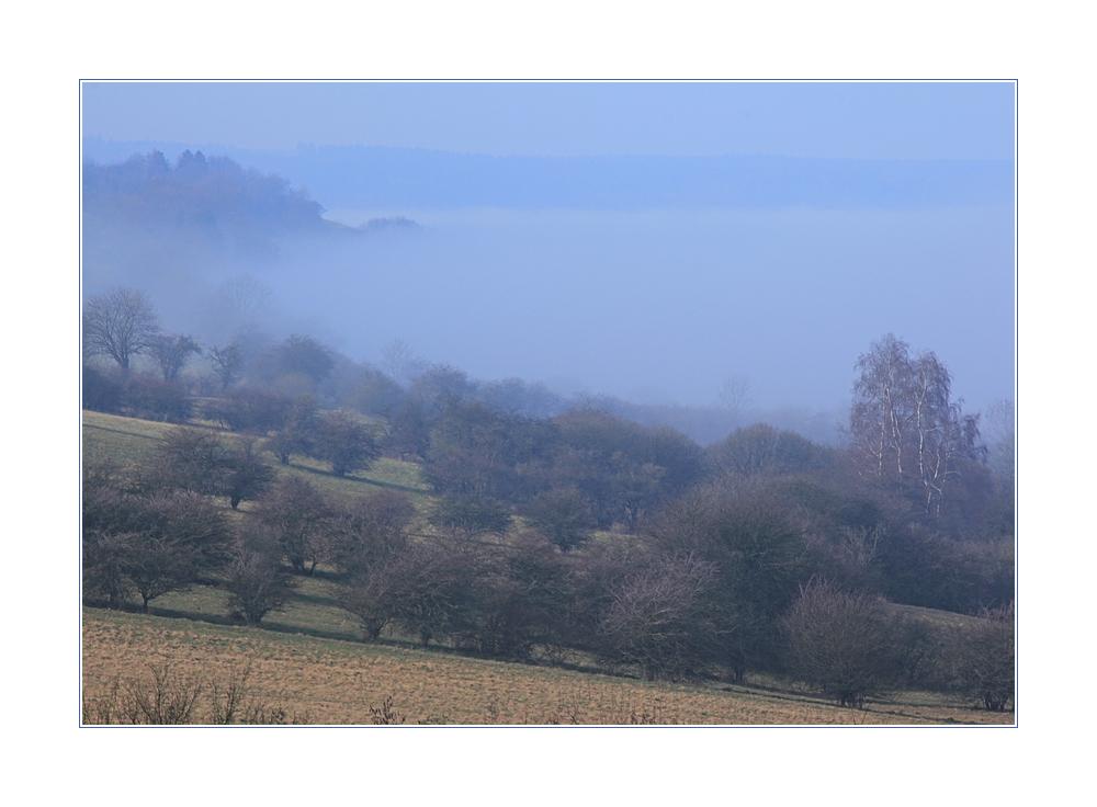 Als der Nebel in Schüben über den Berg waberte...