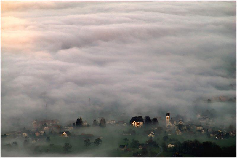 Als der Nebel sich Schübelbach schnappte