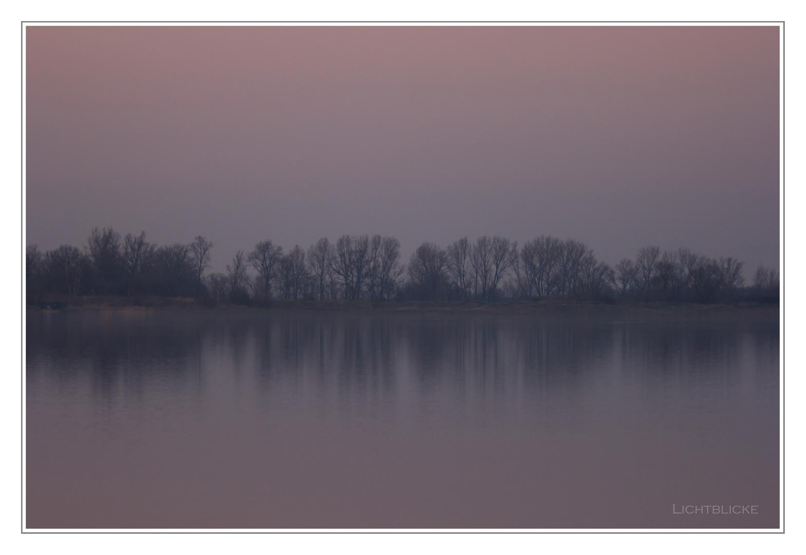 als die Sonne unterging und der Nebel kam