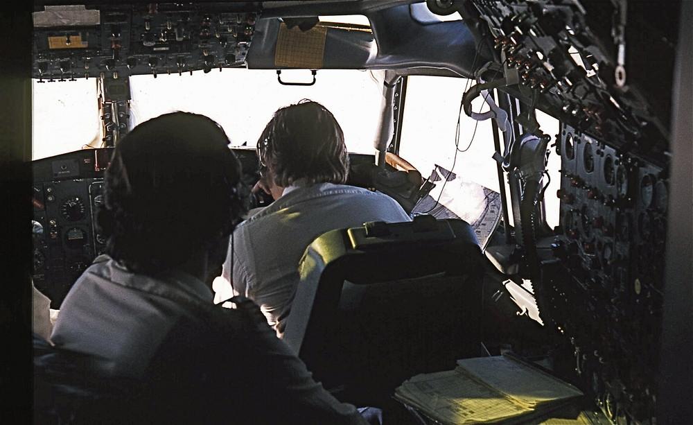 Als noch 3 im Cockpit saßen