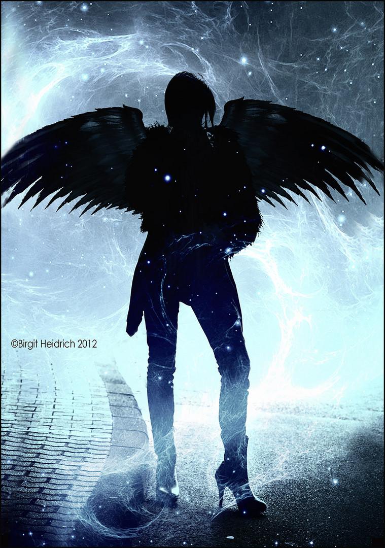 Als schwarzer Engel kam ich zur Welt !