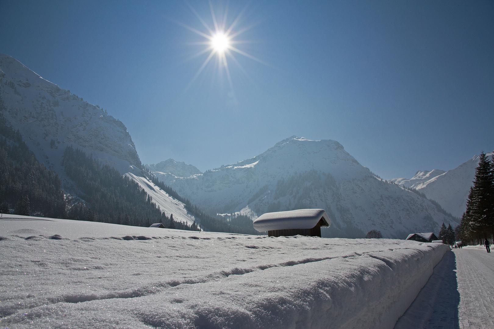Also Schnee haben sie hier genug !