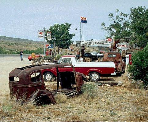 Alt und Neu an der Route 66