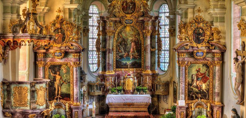 Altar der Filial- und Wallfahrtskirche St. Marinus und Anian