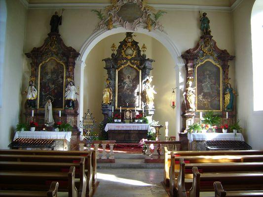 Altar der Ohmenkapelle in St. Märgen / Schwarzwald