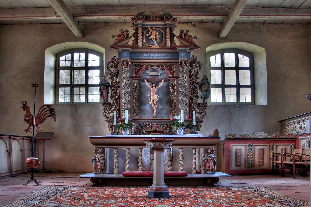 Altar einer Dorfkirche
