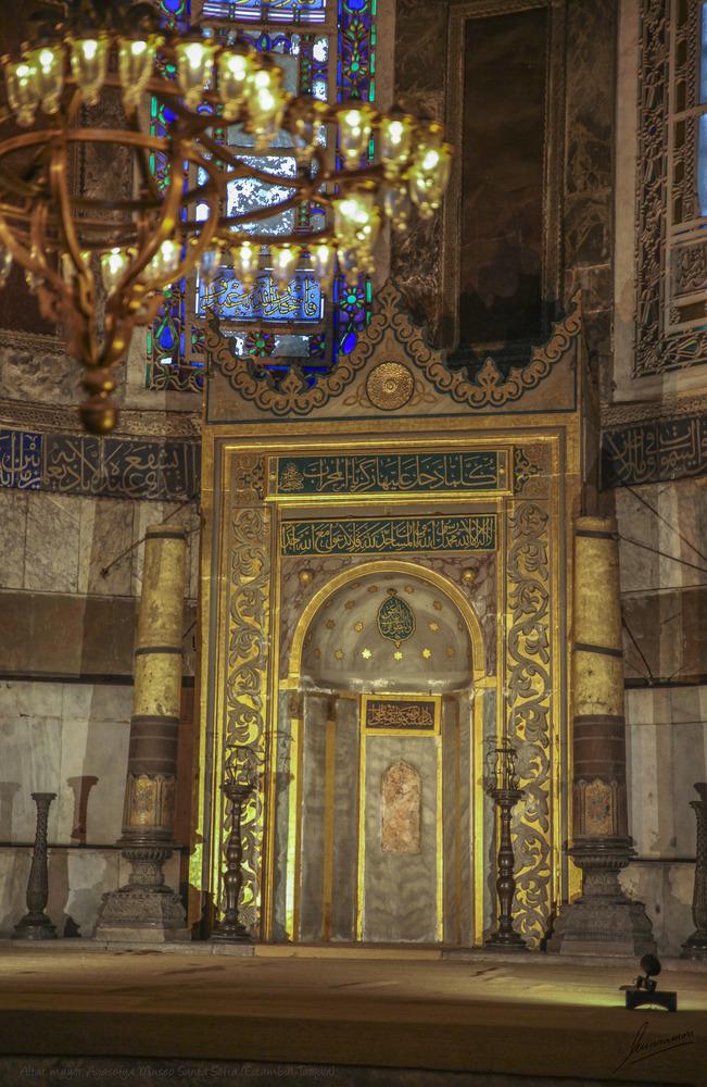 Altar mayor Ayasofya Museo Santa Sofia (Estambul Turquía)