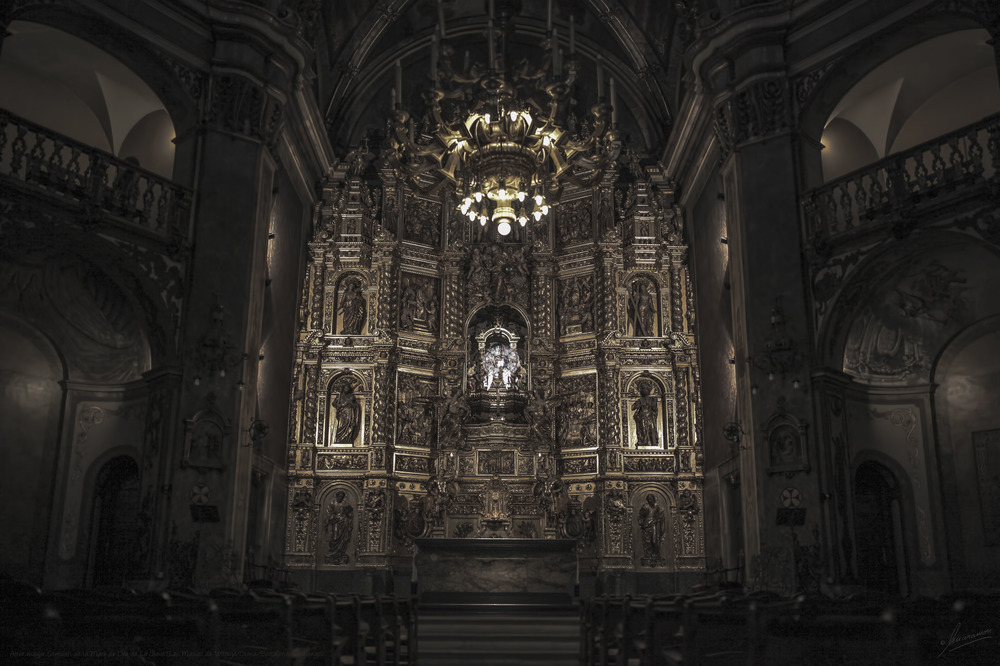 Altar mayor Santuari de la Mare de Déu de La Gleva (Les Masies de Voltregá/Osona/Barcelona/Catalunya