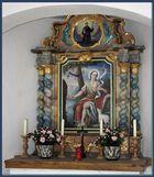 Altar mit Gemälde in der Kapelle des wachsenden Felsen