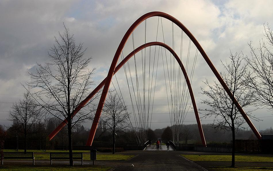Altbekannte Brücke im Nordsternpark